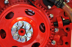 Flywheel detail of engine Stock Photo