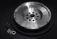 Flywheel with starter ring gear Stock Photography