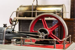 Flywheel of a steam engine Stock Photography