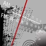 fm减速火箭grunge的收音机 免版税库存图片
