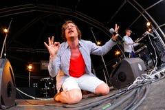 FM Belfast występ przy sonaru festiwalem (electro wystrzału zespół) Zdjęcie Stock
