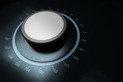FM button. Over a blue background with frequencies around Royalty Free Stock Image