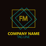 FM Letter Logo Design. Royalty Free Stock Photography