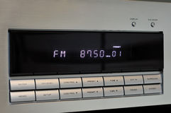FM Radio Display. FM radio white color LED display console Stock Images