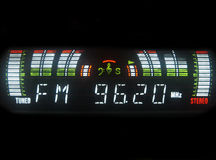 FM radio equalizer Stock Photo