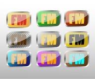 FM radio icon. For web design stock illustration