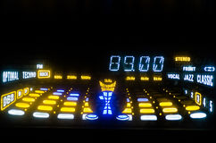 FM Tuner Equalizer Stock Images