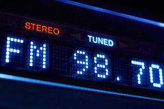 Free FM Tuner Radio Display. Stereo Digital Frequency Station Tuned. Royalty Free Stock Photo - 78053015