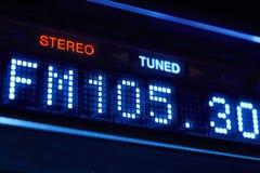 FM tuneru radia pokaz Stereo cyfrowa częstotliwości stacja nastrajająca Zdjęcia Royalty Free