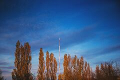 FM and TV Mast Royalty Free Stock Images