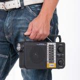 Fm velho do afinador do transistor portátil de rádio foto de stock royalty free