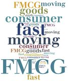 FMCG or fast moving consumer goods. Word cloud illustration royalty free illustration