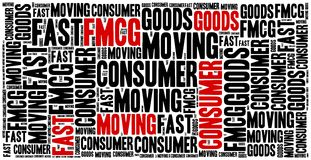 FMCG or fast moving consumer goods. royalty free illustration