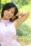 Fêmea asiática bonita Imagens de Stock