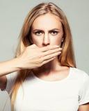 Fêmea com boca fechado Imagem de Stock