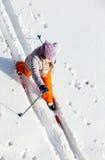 Fêmea de esqui Fotografia de Stock Royalty Free