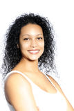 Fêmea do cabelo encaracolado Fotos de Stock Royalty Free