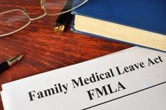 FMLA-Akte van het Familie het Medische Verlof royalty-vrije stock foto's