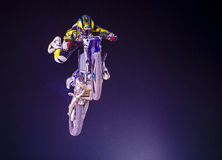 FMX motocross. LAS VEGAS - MAY 16 : unidentified rider giving FMX motorcross demonstration as part of the Helldorado days rodeo in Las Vegas on May 16 2015 Royalty Free Stock Photos
