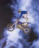 FMX motocross. RENO , USA - JUNE 30 : unidentified rider giving FMX motorcross demonstration as part of the Reno Rodeo a Professional Rodeo held in Reno ,USA on Stock Images