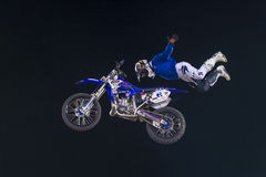 FMX motocross. RENO , USA - JUNE 30 : unidentified rider giving FMX motorcross demonstration as part of the Reno Rodeo a Professional Rodeo held in Reno ,USA on Stock Image