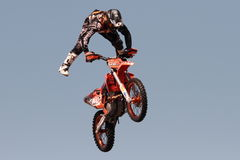 FMX motorcross demonstration Stock Image
