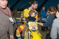 FMX rider Alexei Aisin Stock Images