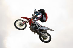 FMX rider Evgeny Stepnov Stock Photos