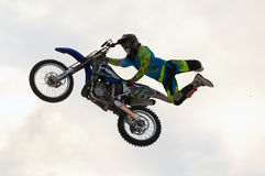 FMX rider Ivan Kargopoltsev Royalty Free Stock Photo