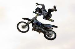 FMX rider Mikhail Yarygin Stock Images