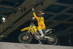 FMX rider, motofristayler Royalty Free Stock Photography