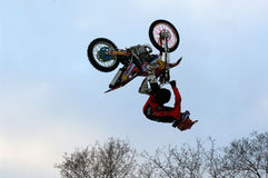 FMX rider Nikolay Ivankov Royalty Free Stock Images