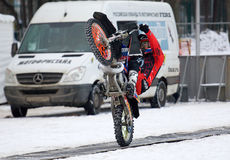 FMX rider Nikolay Ivankov Royalty Free Stock Photography