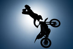 FMX rider performing trick Stock Images