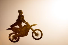 FMX rider performing trick Stock Image