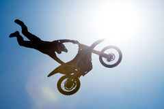 FMX rider performing trick Stock Photo