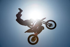 FMX rider performing trick Stock Photography