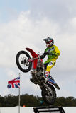 FMX rider and ramp Stock Images