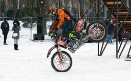 FMX rider Vladimir Yarygin Royalty Free Stock Photo