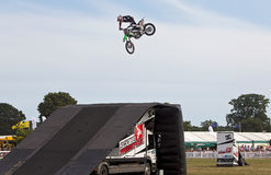 FMX stunt jumping Royalty Free Stock Photography