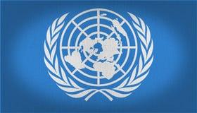 FN-flagga royaltyfri illustrationer