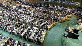 FN-generalsekreterare Ban Ki-moon stock video