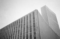 FN-högkvarter som bygger, New York royaltyfri bild