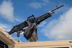 FN MAG jest belgiem 7 62 mm purpose maszynowy pistolet, projektujący w wczesnych 1950s przy Fabrique Nationale zdjęcie royalty free