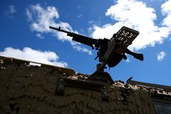 Fn-MAGEN är en belgare 7 allmän-avsikt för mm som 62 maskingevär planläggs i den tidiga 50-tal på Fabrique Nationale Royaltyfri Fotografi