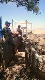 FN-observatörer - montering Bental, Golan Heights Royaltyfria Foton