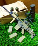 FN Scar H 1/6. It is the ultimate weapon killer enemy Stock Image
