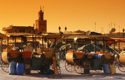 Fna di EL di djema di Marrakesh Fotografie Stock Libere da Diritti