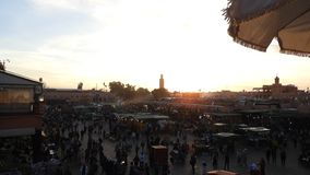 Fna Jema el, Marakesh, Maroc, вечер стоковые фото