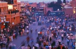 Fnaa di EL di Djem della plaza a Marrakesh Fotografie Stock